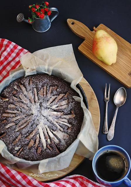 jesienne wypieki, ciasto z gruszkami, proste ciasto z owocami, daylicooking