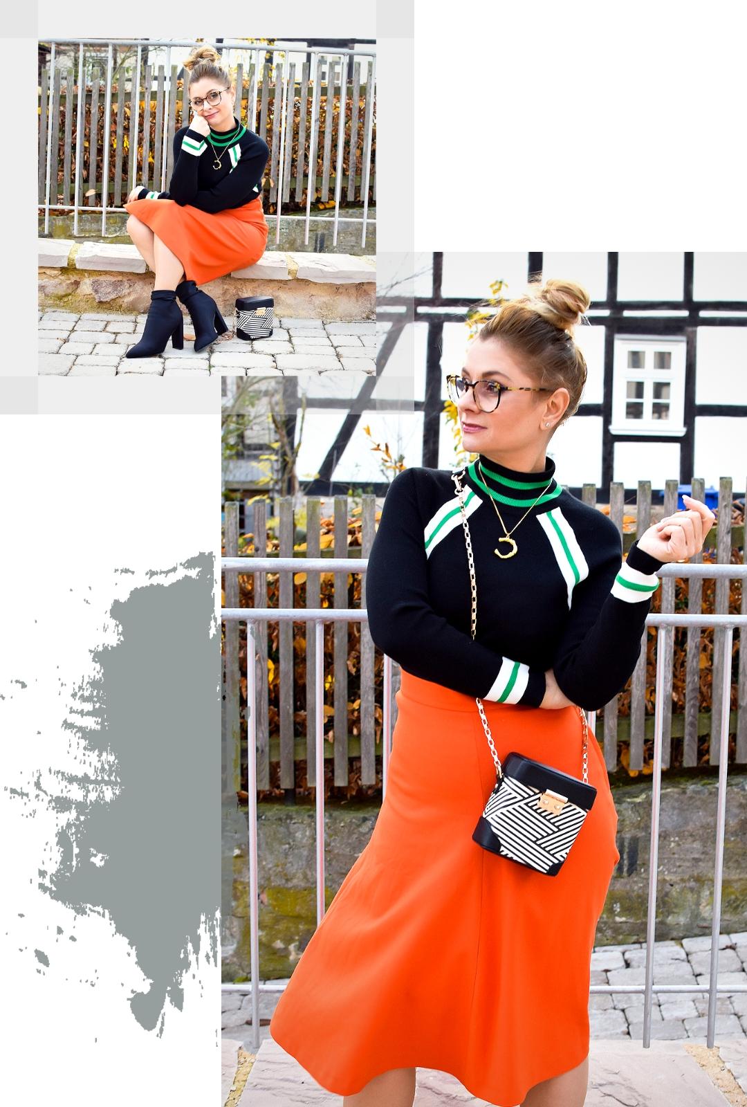 Was trage ich zu Orange? Modeblog für Frauen ab 40,