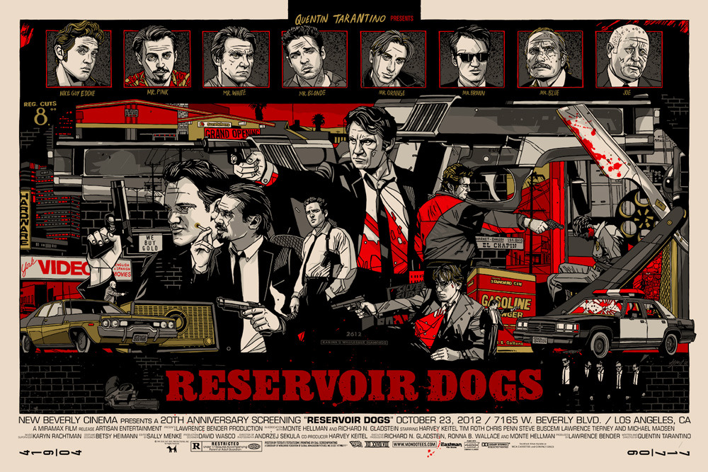 Tyler stout reservoir dogs mondo poster regular
