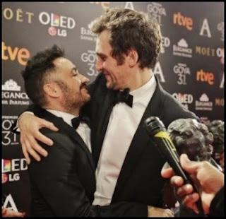 J. A. Bayona y Raúl Arévalo en los Premios Goya 2017