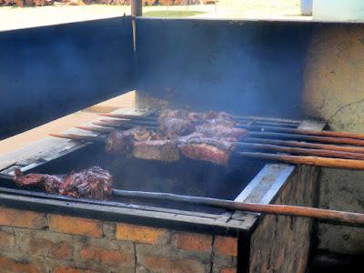 Imagen de carne en palo