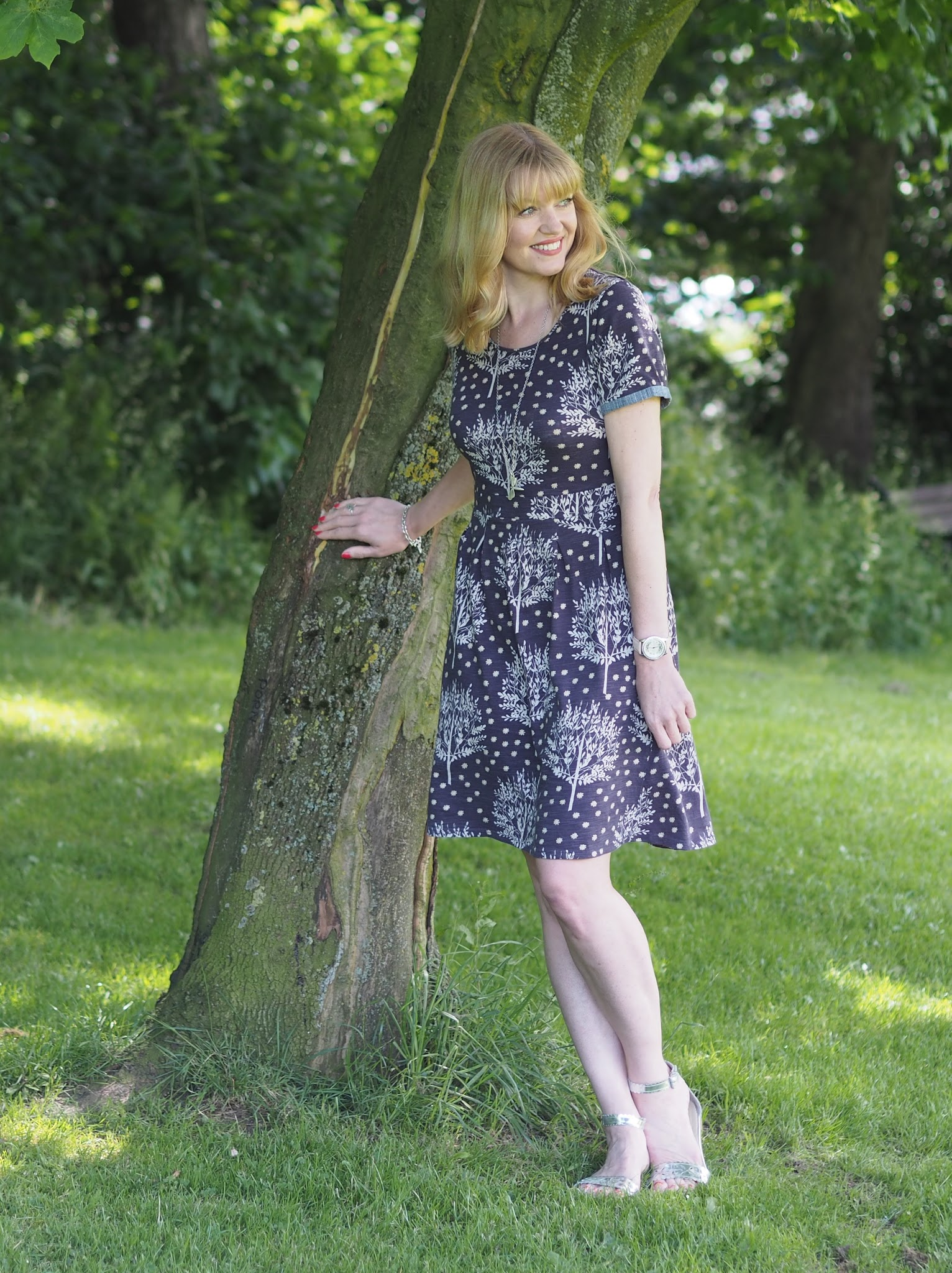 Purple floral Braintree dress