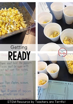 It's the Popcorn STEM Challenge. Prep is easy- kids just need a popcorn sample and paper to make a container.