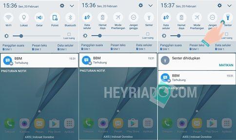 Cara Menyalakan Senter Samsung J3, J5, J7, A3, A5, A7