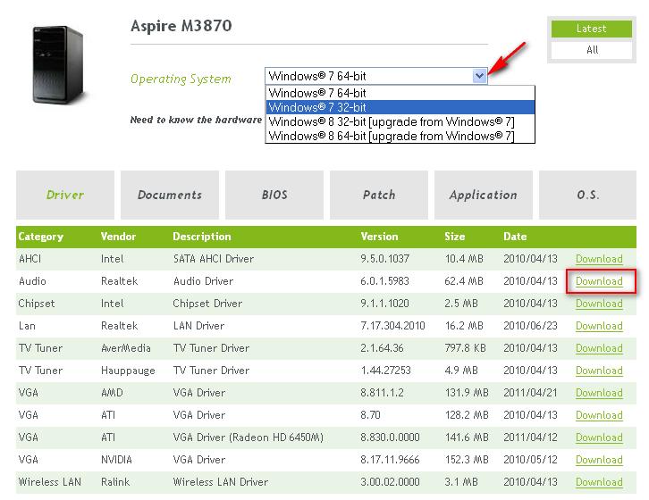 Cara download driver laptop Acer semua tipe