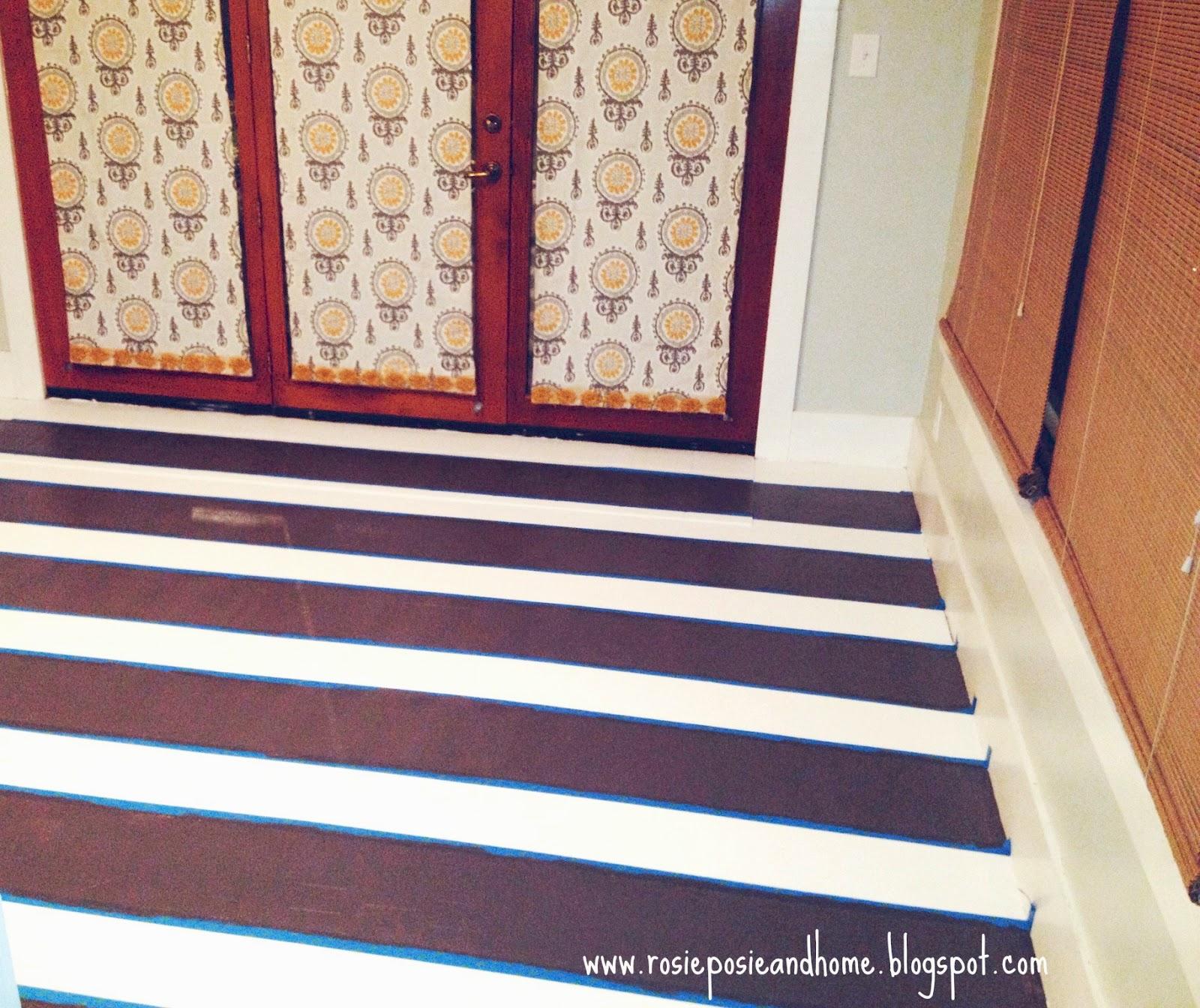Rosie Posie Amp Home Painting Our Vinyl Floors