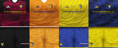 PES 6 Kits Cádiz CF Season 2018/2019 by VillaPilla