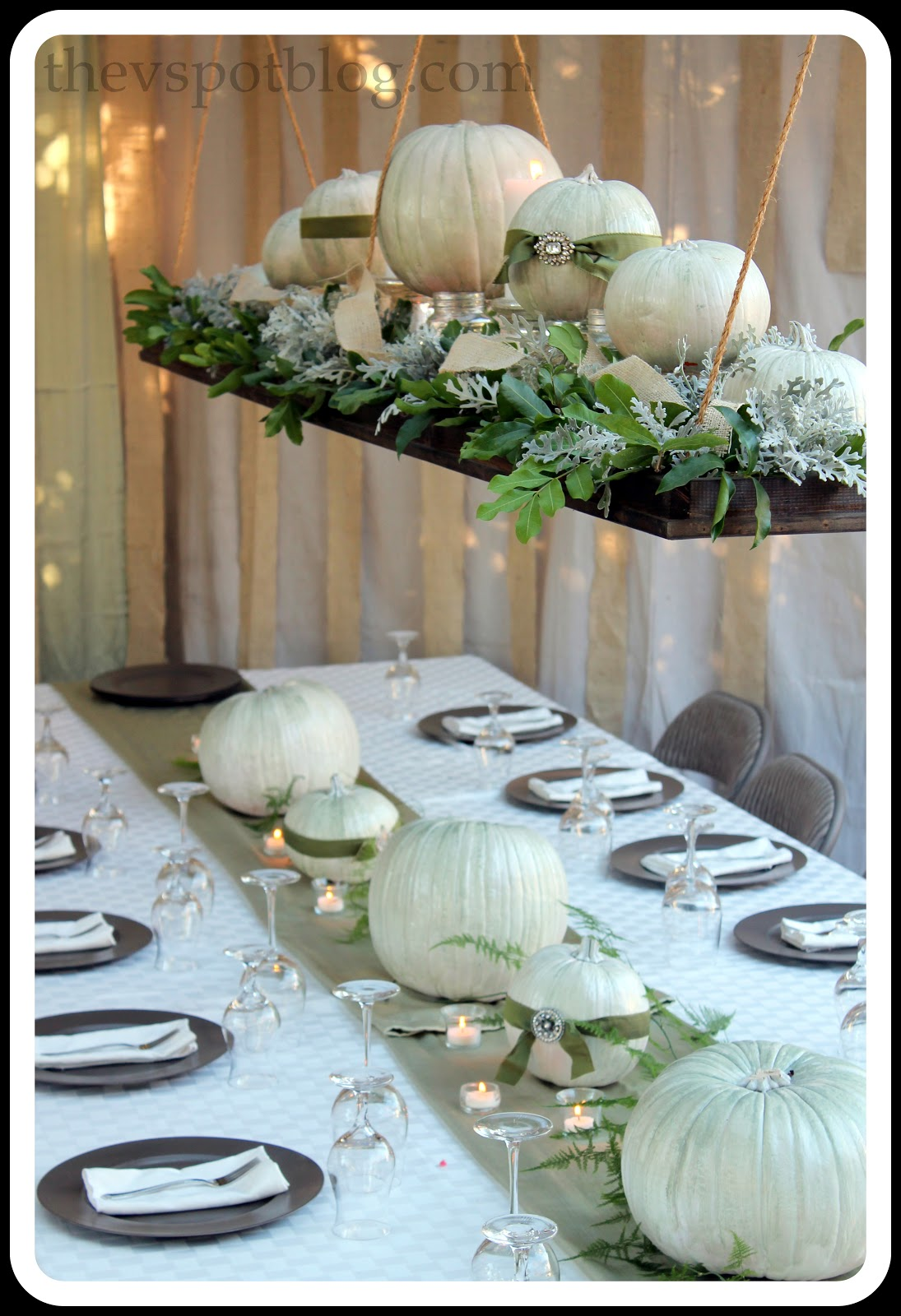 Thanksgiving wrap up dinner decor and the thanksgiving - Thanksgiving table decorating ideas ...