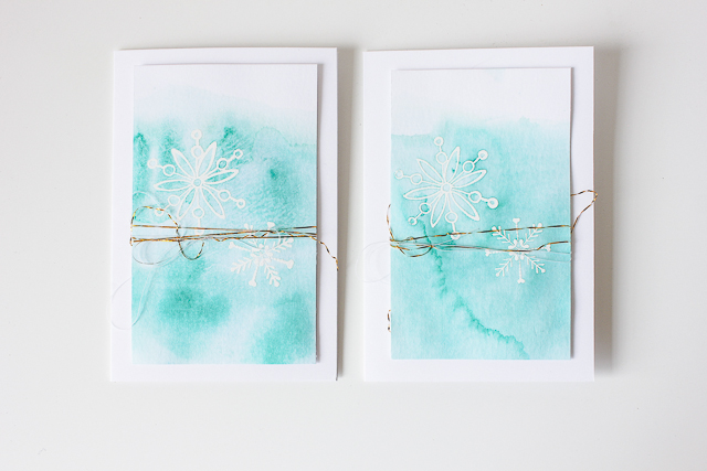 winterliche Karte im Aquarelldesign (+ Video) | Janna Werner