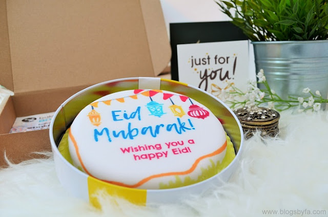 Bakerdays personalised Eid cake