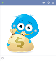 Money bird Facebook sticker