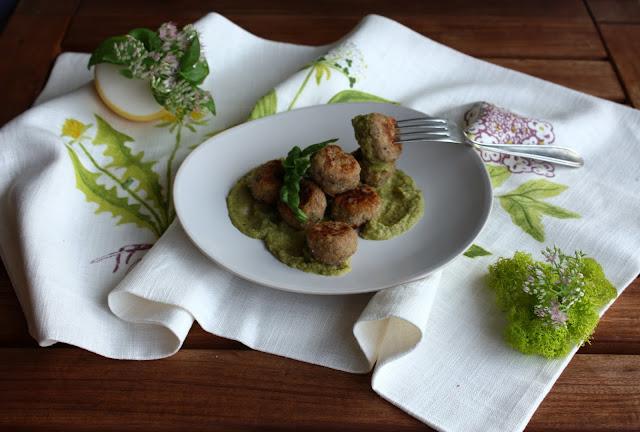 Polpette di  ricotta, prosciutto cotto  e zucchine al profumo di basilico