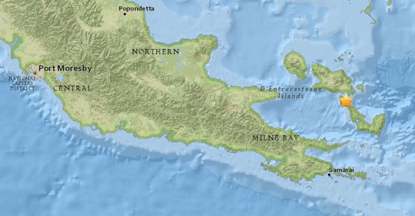 TERREMOTO EN PAPÚA NUEVA GUINEA de Magnitud 5.4 - Alerta de Tsunami (Hoy Lunes 30 Julio 2018) Sismo Temblor EPICENTRO - Alotau - USGS