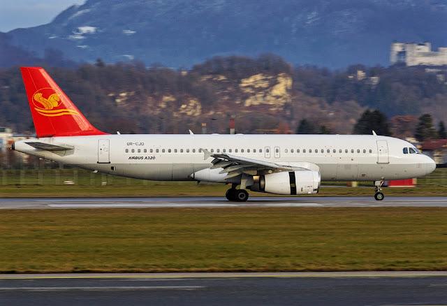 Airbus A320-200 of Khors Aircompany While Taxiing