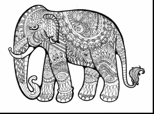 Astounding Hard Coloring Pages Elephant With Free Coloring Pages For Adults  Printable Hard To Color And