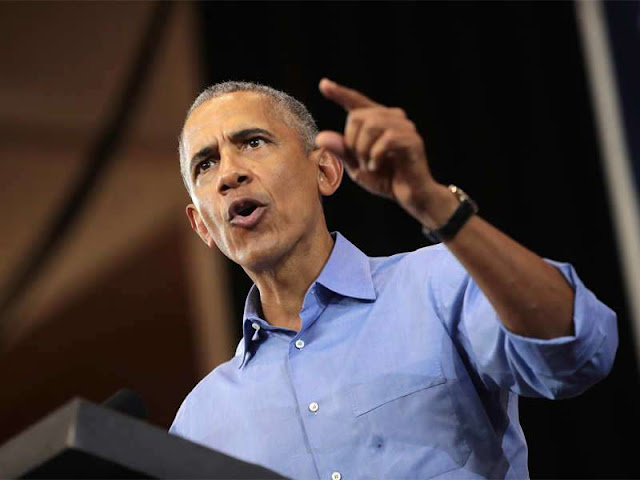 Barack Obama rips Trump in fiery speeches for Democrats
