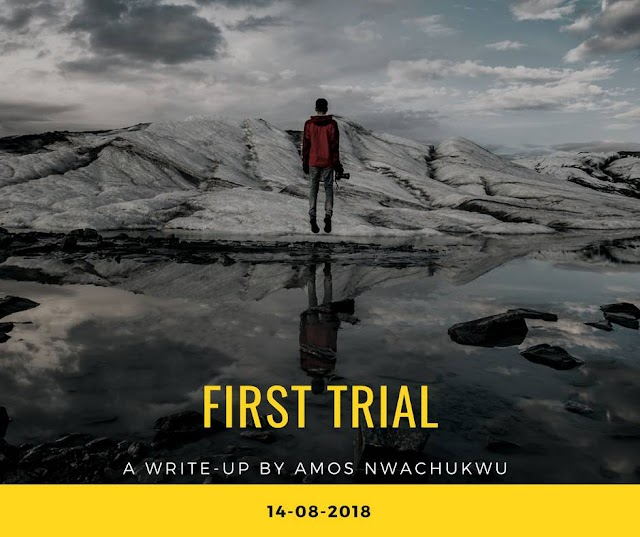Amos Nwachukwu releases a Motivational Article Titled 'First Trial