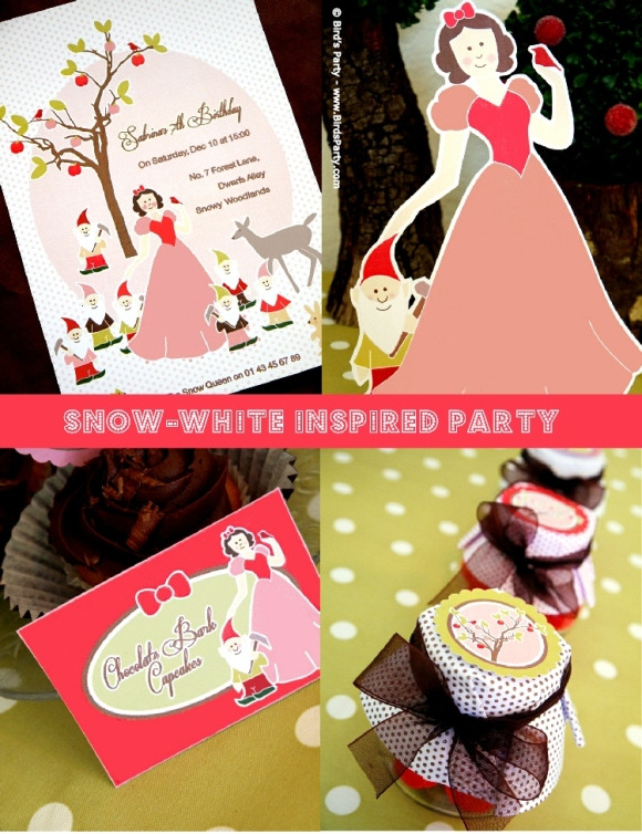 Winter Printable Party Ideas - BirdsParty.com