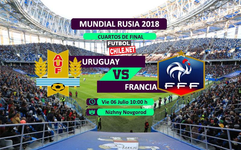 Uruguay vs Francia por los cuartos de final del Mundial Rusia 2018