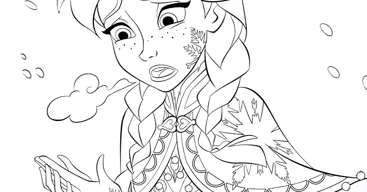 free coloring pages of frozen characters | Download Princess Anna Walt Disney characters frozen movie ...