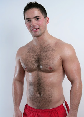 Hot stud Jerry from UK shows his hairy chest