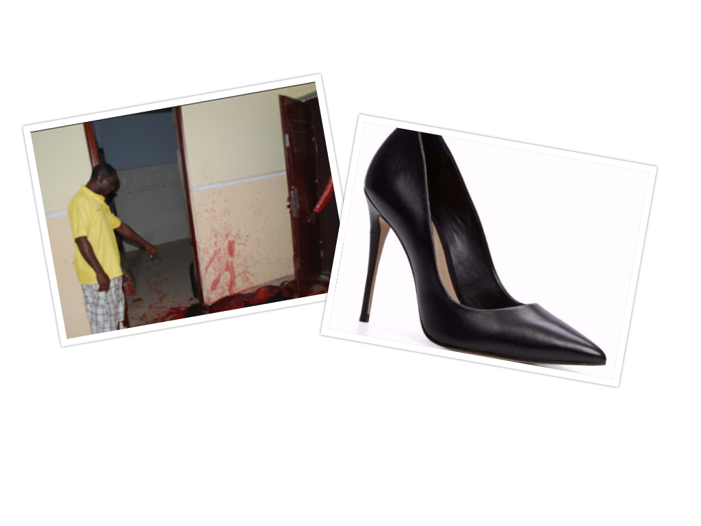 Image result for Woman kills her husband with her 'high heel shoe'