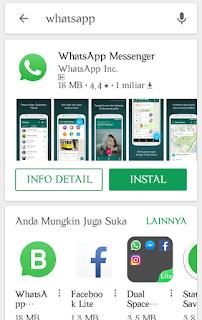 Mendownload whatsapp apk terbaru lewat google playstore