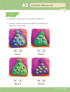 Apoyo Primaria Desafíos Matemáticos 1er Grado Bloque 4 Lección 43 ¿Cuánto dinero es?