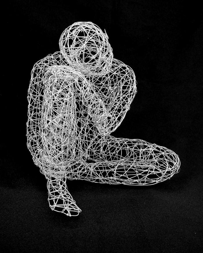 Скульптуры из проволоки. Simone Wojciechowski