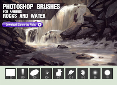 فرش التصميم انواعها واشكالها وابدااعااتها ... Photoshop Photoshop-Brushes-for-Painting-Rocks-and-Water