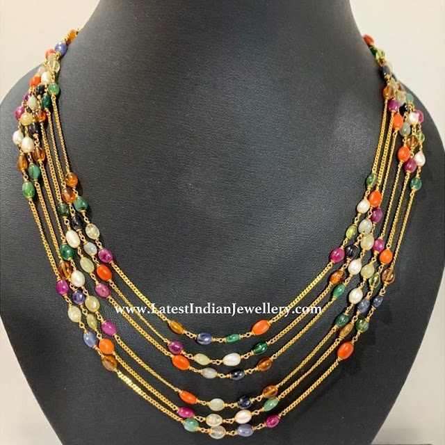 MultiLayer Navratna Gold Necklace