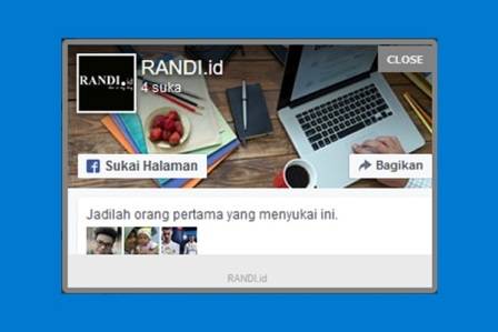 Cara Terbaru Membuat Pop Up Like Box FansPage Facebook Melayang di Blog