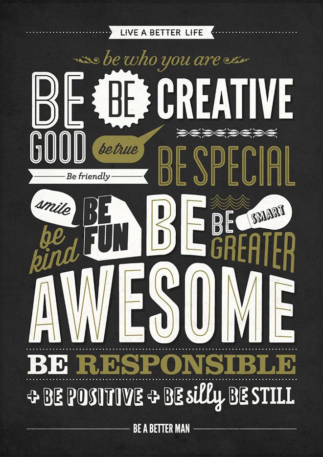 Inspirasi desain tipografi terbaik dan terbaru - Motivational Poster by NeueGraphic