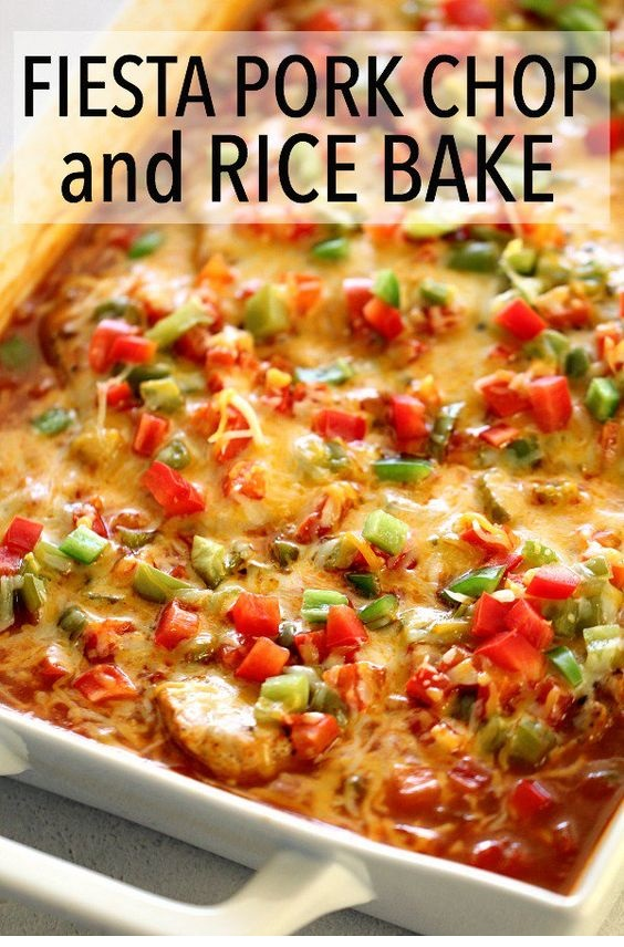Fiesta Pork Chop And Rice Bake Recipe