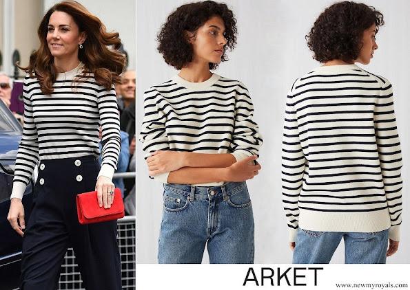 Kate Middleton wore Arket Merino Mariniere jumper