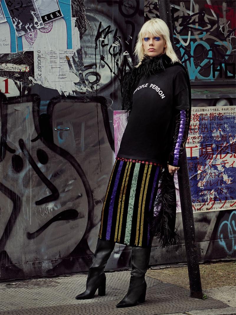 Zara TRF Lights Galore Lookbook 2017 featuring Marjan Jonkman