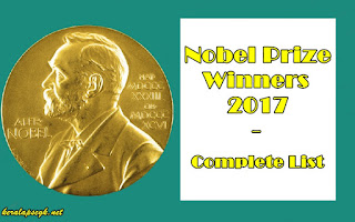 Complete List of Nobel Prize Winners 2017