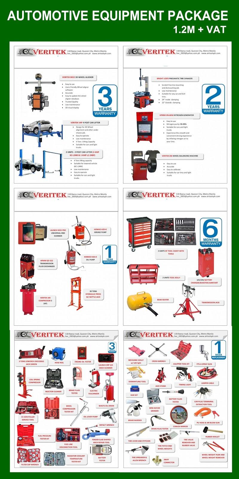 Chucks Auto Body >> Automotive Equipment Package Iloilo Philippines - Philippine Automotive