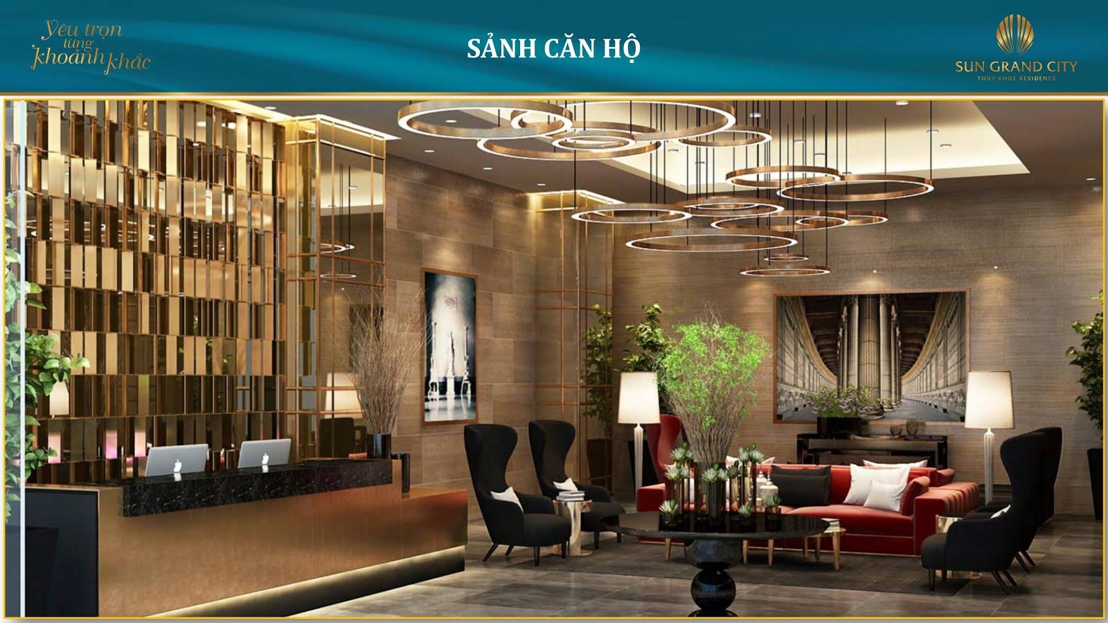 Sảnh căn hộ Sun Grand City Láng Hạ