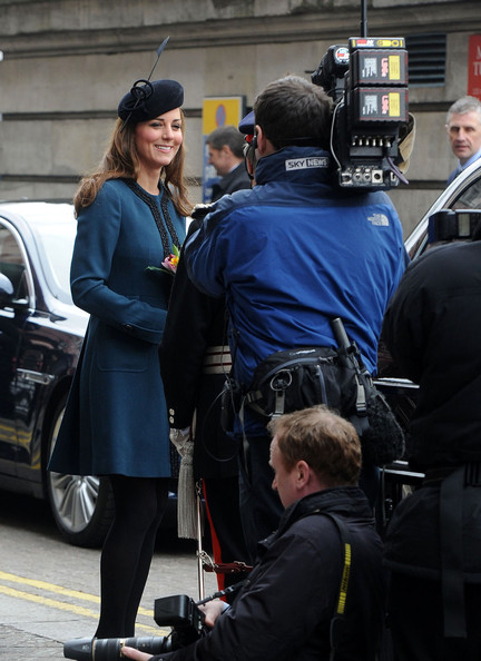 Queen Elizabeth II, accompanied by Prince Philip and Kate Middleton visited the Baker Street underground station
