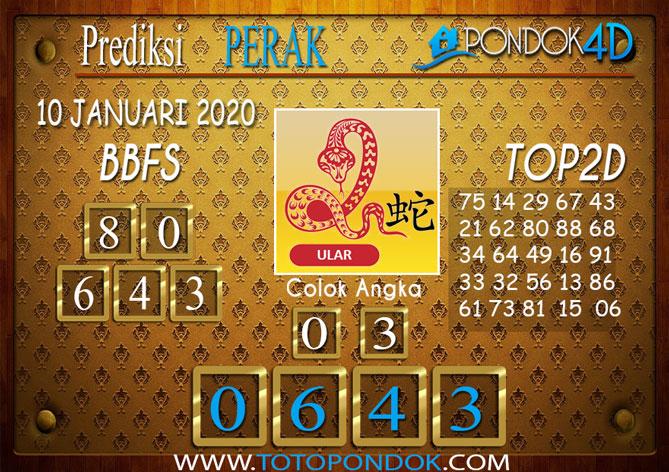 Prediksi Togel PERAK PONDOK4D 10 JANUARI 2020