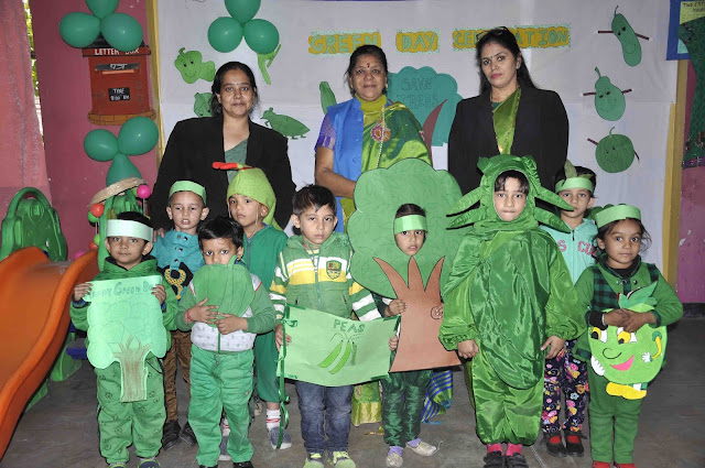 Green Day celebrated at Rotary Public School, Kinder Garden, Faridabad