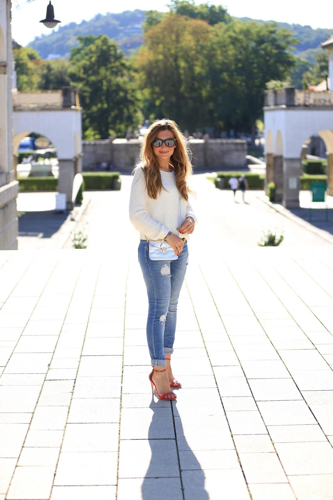 Zara-silberne Tasche -Rote Schuhe - My Colloseum - Outfitinspiration -Dior-so-real-Fashionblogger-München-Deutschland