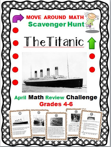 Simply Teaching The Titanic Math Review Scavenger Hunt