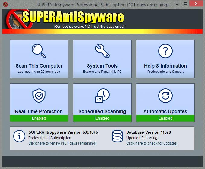 SuperAntiSpyware Free 6.0.1250 - Αφαιρέστε όλα τα spywares. ΟΧΙ μόνο τα εύκολα