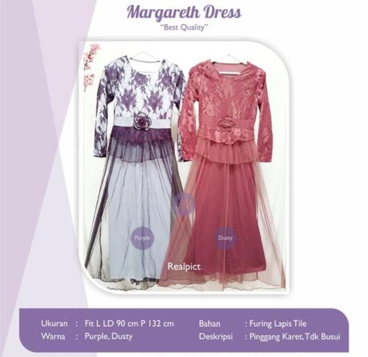 Jual Baju Busana Muslim Margareth Dress