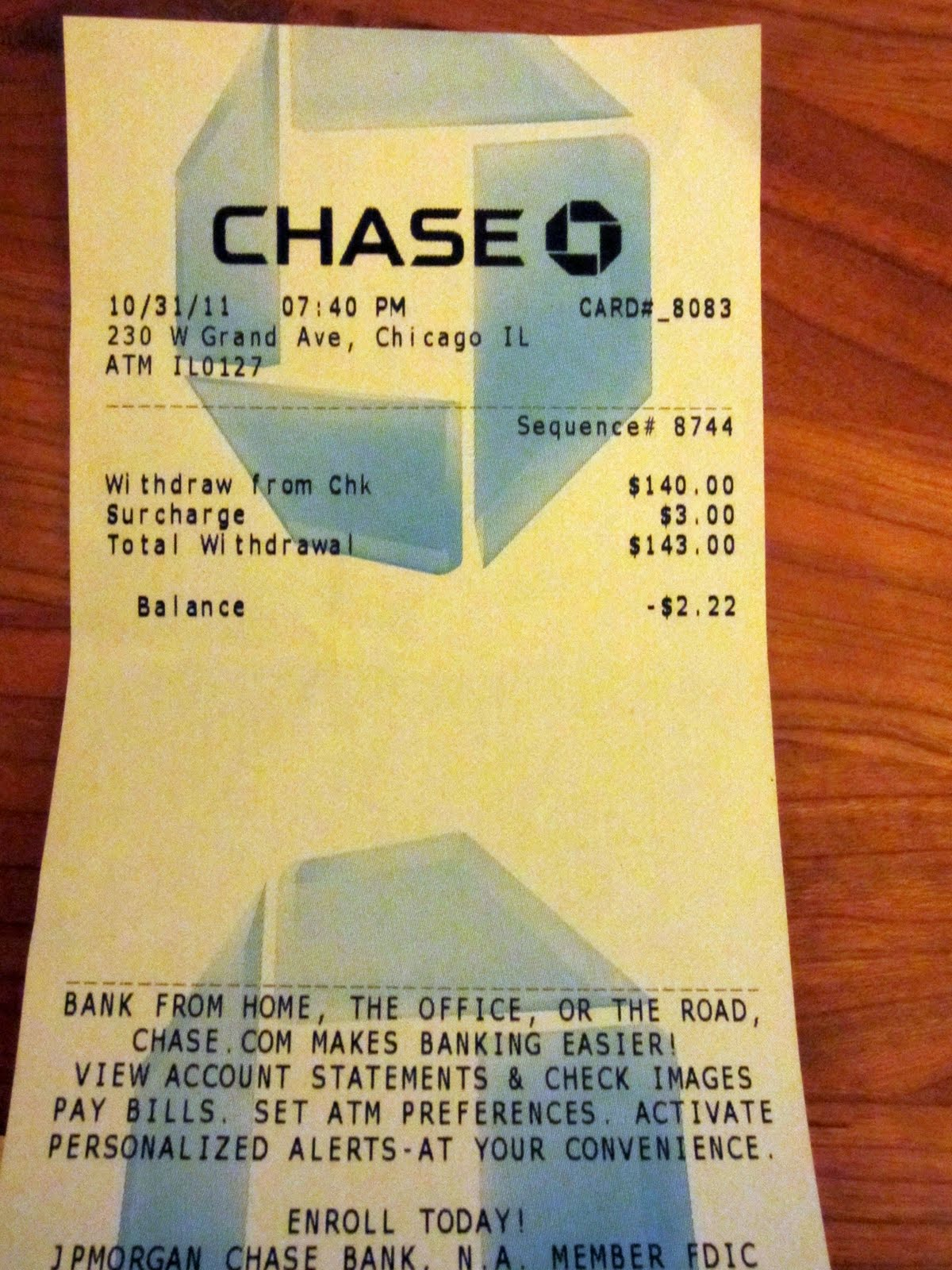 Chase Field receipt ExpressExpense Custom Receipt