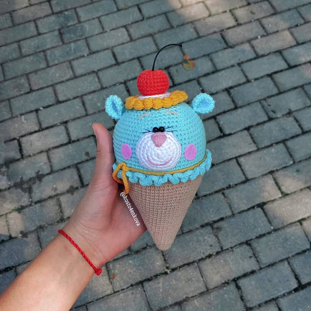 Crochet ice cream bear