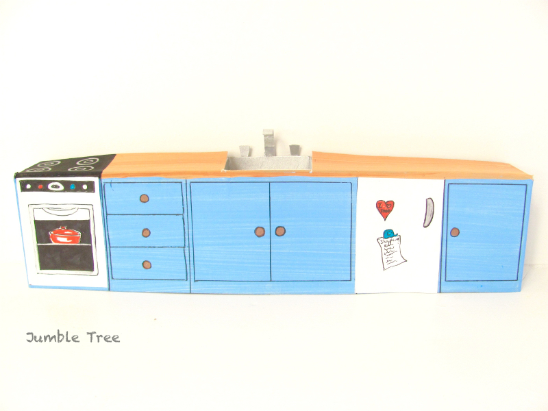 Kitchen Diorama Made Of Cereal Box: Jumble Tree
