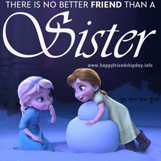 Cute Friendship day wishes for sister